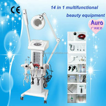 AU-2008 14 in 1 multifunctional anti aging facial skin care equipment