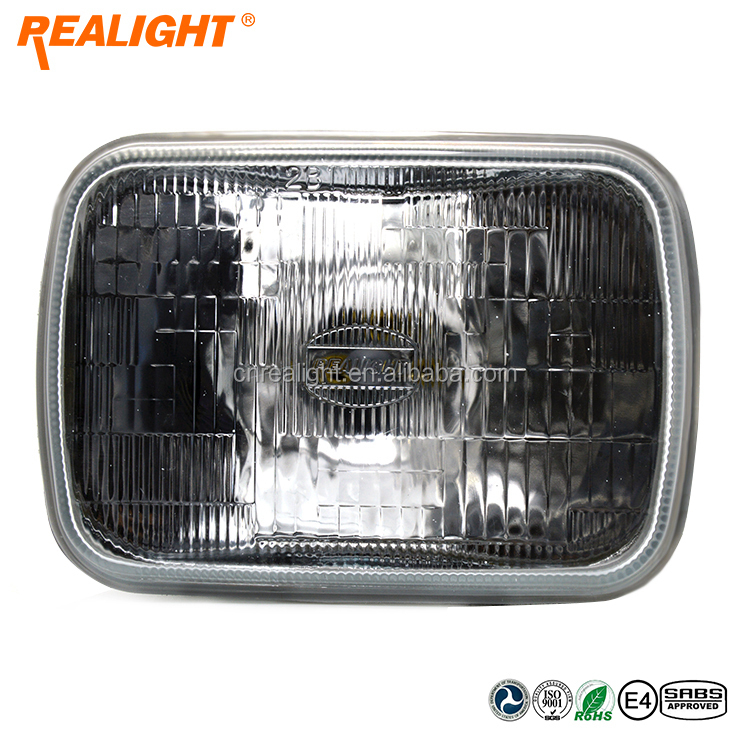 Wagena 7 Inch Square Lamp Halogen sealed beam as Truck Headlilght