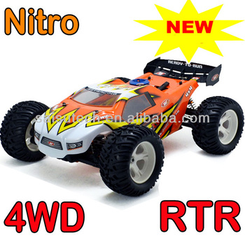 new rc car with petrol engine 1 10 scale full time 4WD off-road rc nitro truggy gas powered rc cars