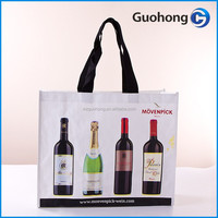 120gsm pp woven wine bag, cheap wine bag