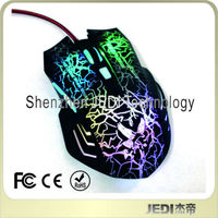 Best selling normal size led 6D wired gamer mouse usb computer mouse