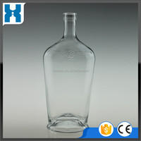EMPTY CHINESE GLASS BOTTLE FOR VODKA GOOD BOTTLE 750ML