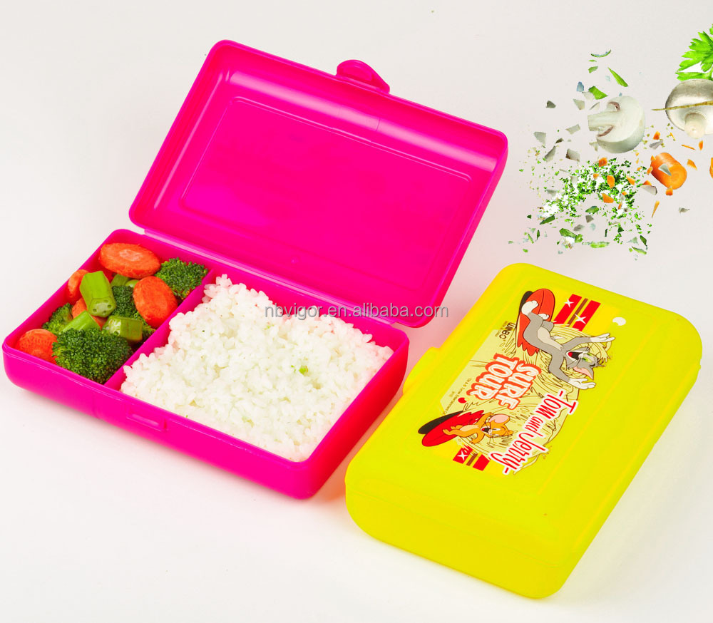 B10-0714 Food Grade Plastic 2 Compartments Lunch Box