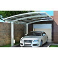 LanYu New curved roof outdoor aluminium frame car parking shelter