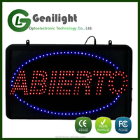Ultra bright LED neon Open motion animation ON/OFF switch sign.
