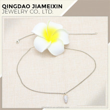 Simple Gold Plated Chain Female Durostone Vintage Necklace Jewelry