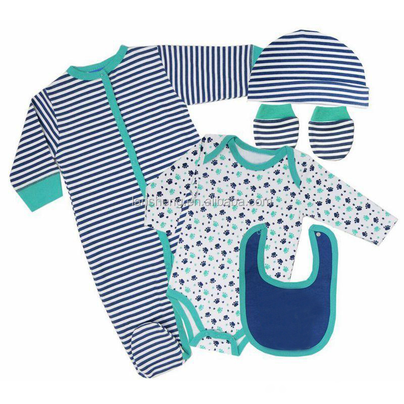 New 5Pcs Baby Boy Clothing Set Suits