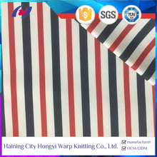 Knitting 4 Way Stretch Stripe Printed Nylon/Polyester Spandex Swimwear Fabric Made In China