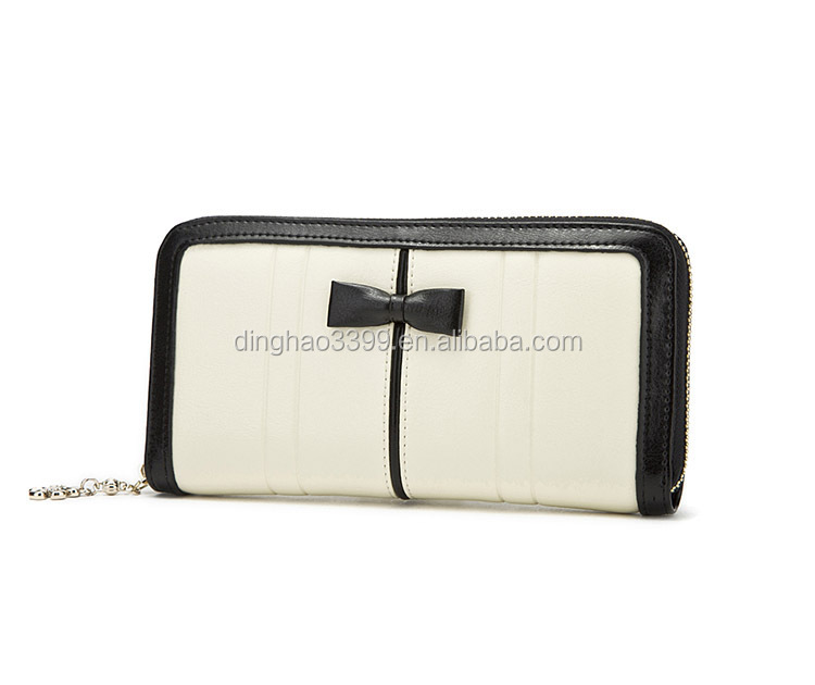 Lady Leather Wallet, Hot-selling Wallet Bow Ladies Purse with Alibaba Stock Price