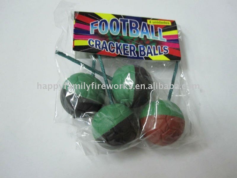 football cracker balls