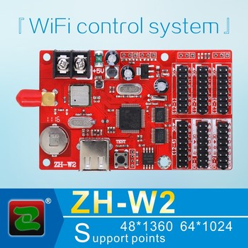 Zhonghang WIFI multi partitions text and animation strip ZH-W2 LED control system card