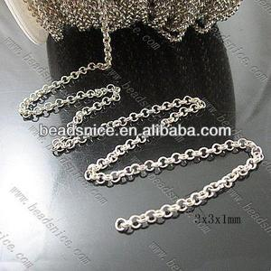 Brass Chain 3x3x1mm brass snake chain