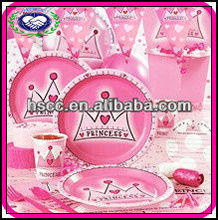 Deluxe Children Birthday/Theme Party Supplies Pink Princess
