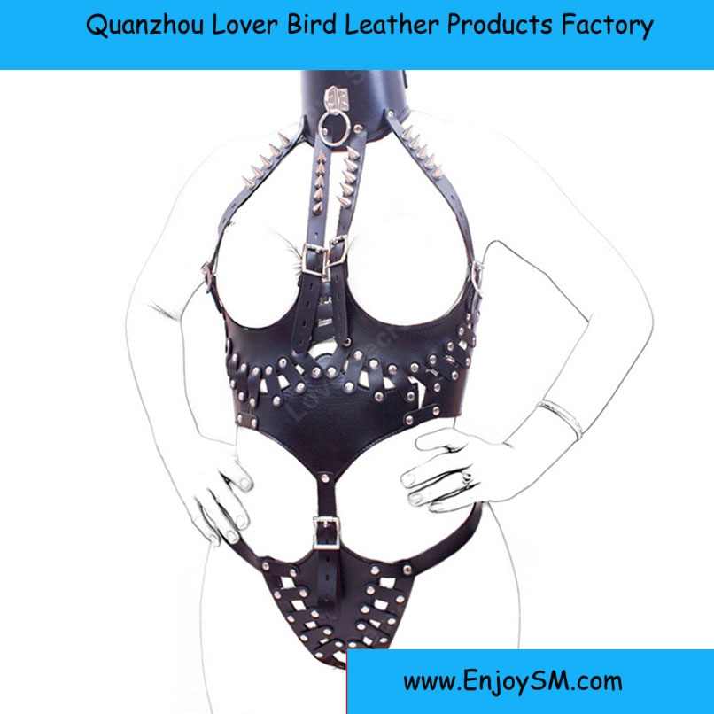Role Play Women Sexy Queen Costume Adult Games Fetish Wear Leather Sex Toy For Couples Open Bust Bodysuit Jumpsuits Sex Products