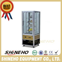 W440 4 side glass display refrigerator/kitchen equipment/commercial glass display refrigerator