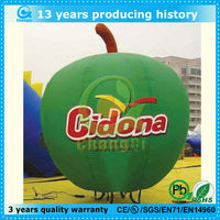 beautiful green advertising inflatable apple model