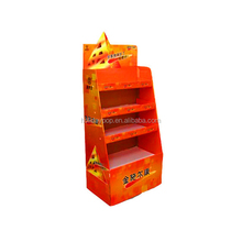 Durable paper <strong>shelf</strong> supplier drink display stand bakery <strong>shelves</strong>