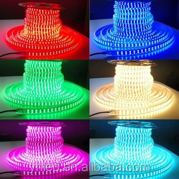 Hot sale! SMD5050 RGB double line led strip light 110V 120leds/m 18w 5050 smd high power continuous length flexible led light