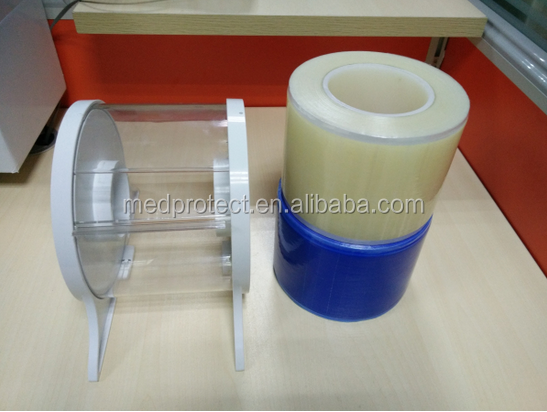 Dental sterile barrier film manufacturer/dental sterilization barrier film clear blue full cover adhesive barrier film