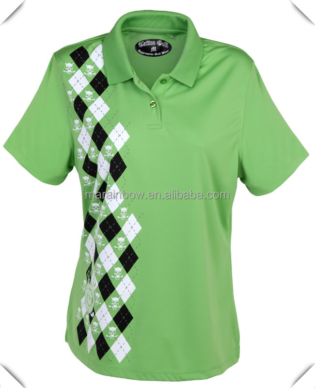 super-smooth New Sport moisture-wicking 95% polyester/5% spandex performance golf POLO shirts custom for ladies golf course