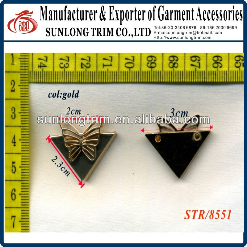 butterfly shape metal collar tips