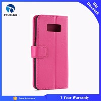 Hot Sale Flip PU Wallet Case for Samsung Galaxy S4 Litchi Leather With TPU
