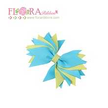 Popular design fashion kids alligator funky hair bows with clips