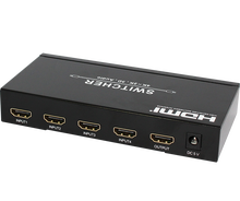 4X1 3D 4kX2K video audio hdmi 1.4 switcher with ARC