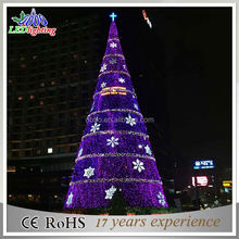 Street and wall decorative outdoor big pvc artificial giant christmas tree light