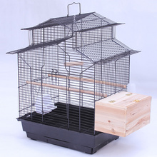 house top design iron metal bird cage budgie cockatiel parrot cages pet carrier A17