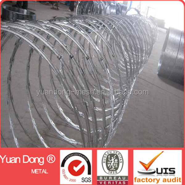 concertina razor wire for defence with BTO22 blade type