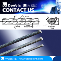 Non Alloy Steel 7mm High Tensile PC Iron Wire with spiral ribs