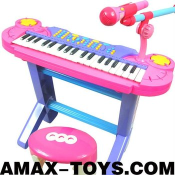 io-780802 toy electronic organ children multifunctional desktop electronic organ with bracket and chair