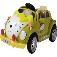 2*6V Battery Powered Ride On Car Dynacraft Hello Kitty KIDS GIRLS OUTDOOR FUN GIFT