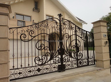 luxury automatic wrought iron driveway gate designs