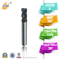 Liken 4 Flutes Rough Coarse Pitch End Mills with Thread Shank Side Milling Cutter