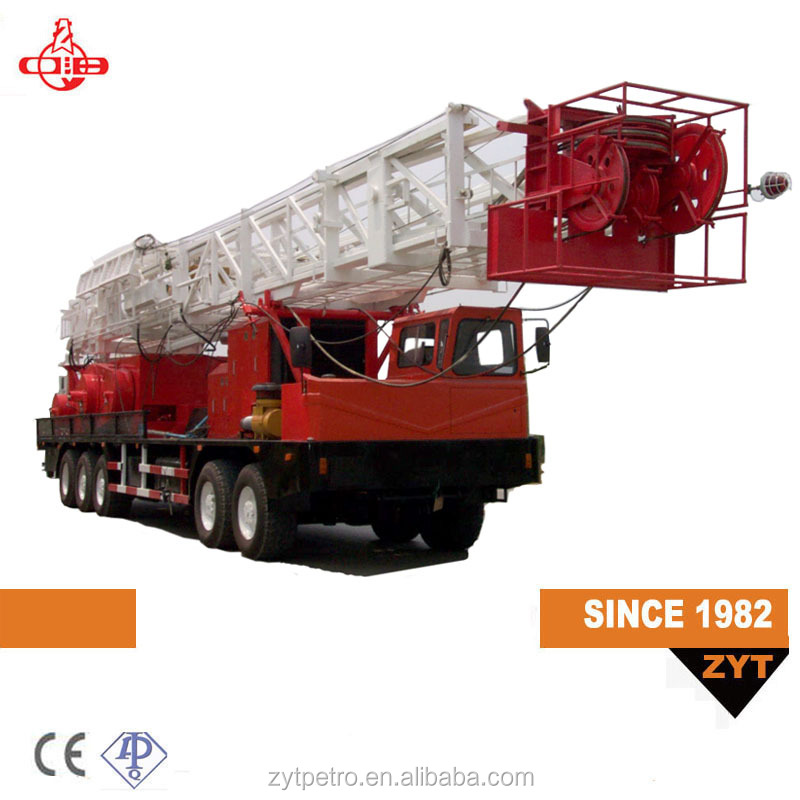 henan hot sale oil services 80t 450hp truck mounted drilling rigs