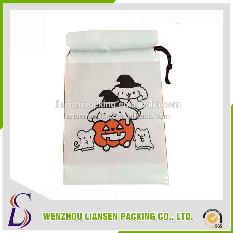 LS-HD0012 LDPE printing plastic drawstring bags ,wholesale for underwear bags,gift bags