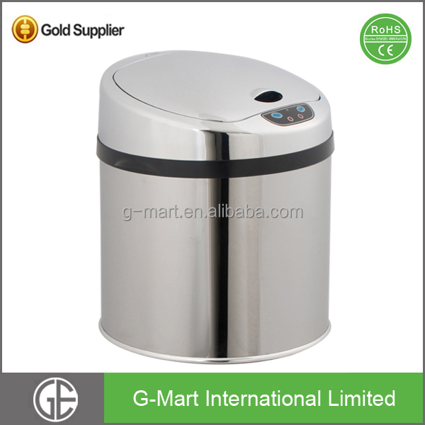 Infrared Touchless Smart Stainless Steel Automatic Sensor Dustbin Rubbish Waste Bin