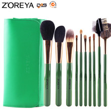 Hot sale simple design yellow and black soft makeup brushes free samples