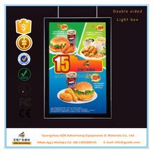Silver magnetic fast food menu board A0,A1,A2,A3 or customized sizes