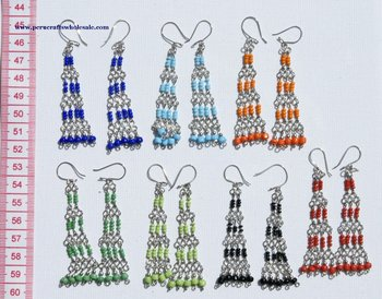 Dangle Color Earrings Peruvian Handmade Artisan Made New Style Jewelry Wholesale