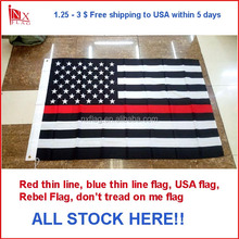 USA red thin line 3x5ft flag - free shipping, fast shipping in 5days