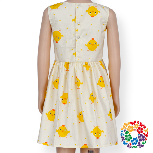 Cute Chicks Sleeveless Summer Dresses Comfortable Cotton Baby Girl Dress