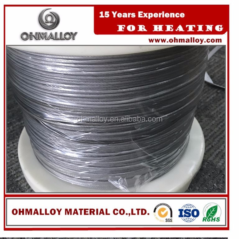 Resistance Heating Wire, Nickel-Chromium <strong>Alloy</strong>, 80% Nickel/ 20% Chromium Muilti-strands 0.574mmx1