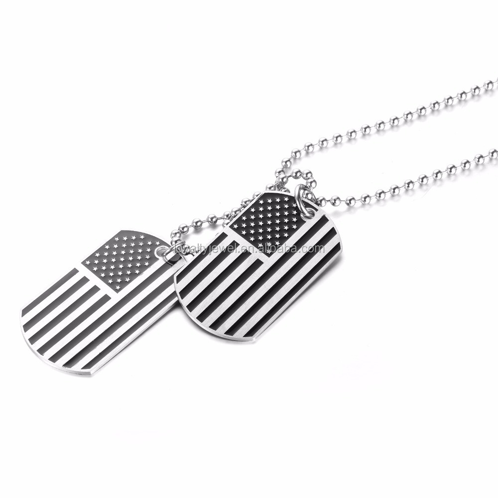 patriotic allegiance s ebay flag necklace american tag jewelry pledge usa itm of dog