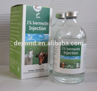 Gmp factory offer Ivermectin Injection 1% for poultry medicine Veterinary medicine