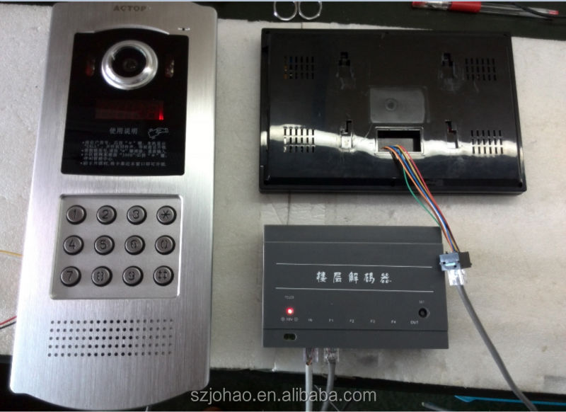 ACTOP Cheap Cat5 cable multi apartments video door phone
