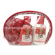 wholesale christmas bath spa shower gel body lotion gift set in cosmetic bag