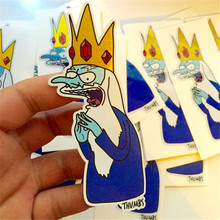 Custom Die Cut Cute Cartoon Single Packaging Pvc Waterproof Self Adhesive Vinyl Sticker Labels Printing Used For Water Flasks